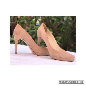 PRADA Milano Suede Leather Heels 39 1/2 Authentic